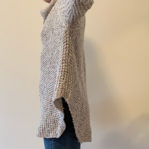 Free People Sweaters - Cream speckled cowl neck sweater tunic